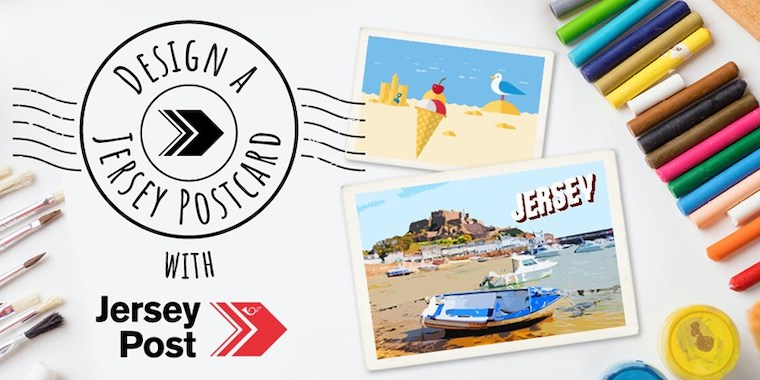 Jersey Post banner for their World Postcard Day contest