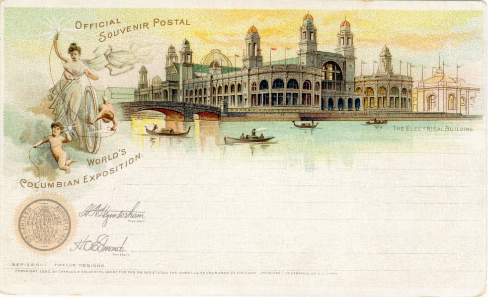 Postcard from the World's Columbian Exposition in Chicago